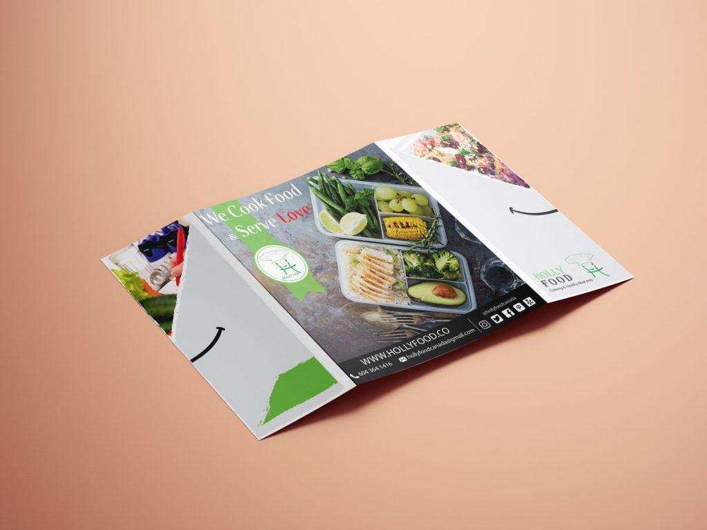 Holly Food Healthy Juice Bar - Flyer Back