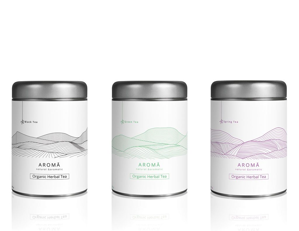 Aroma Organic Herbal Tea - Multicolours Cans