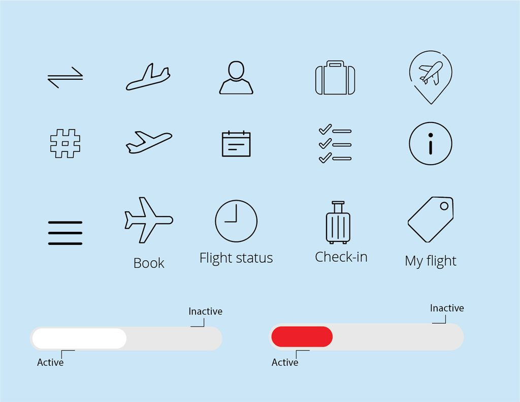 Air Canada Redesign - Icongraphy