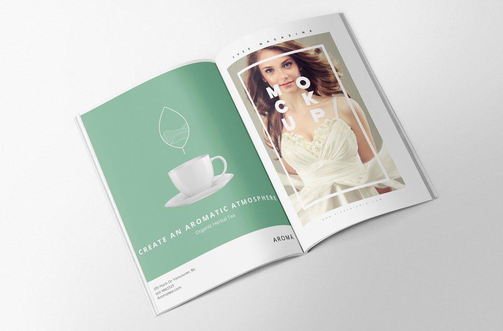 Aroma Organic Herbal Tea - Magazine ad